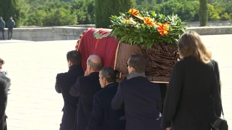 Resten van Spaanse dictator Franco weg uit Vallei der Gevallenen