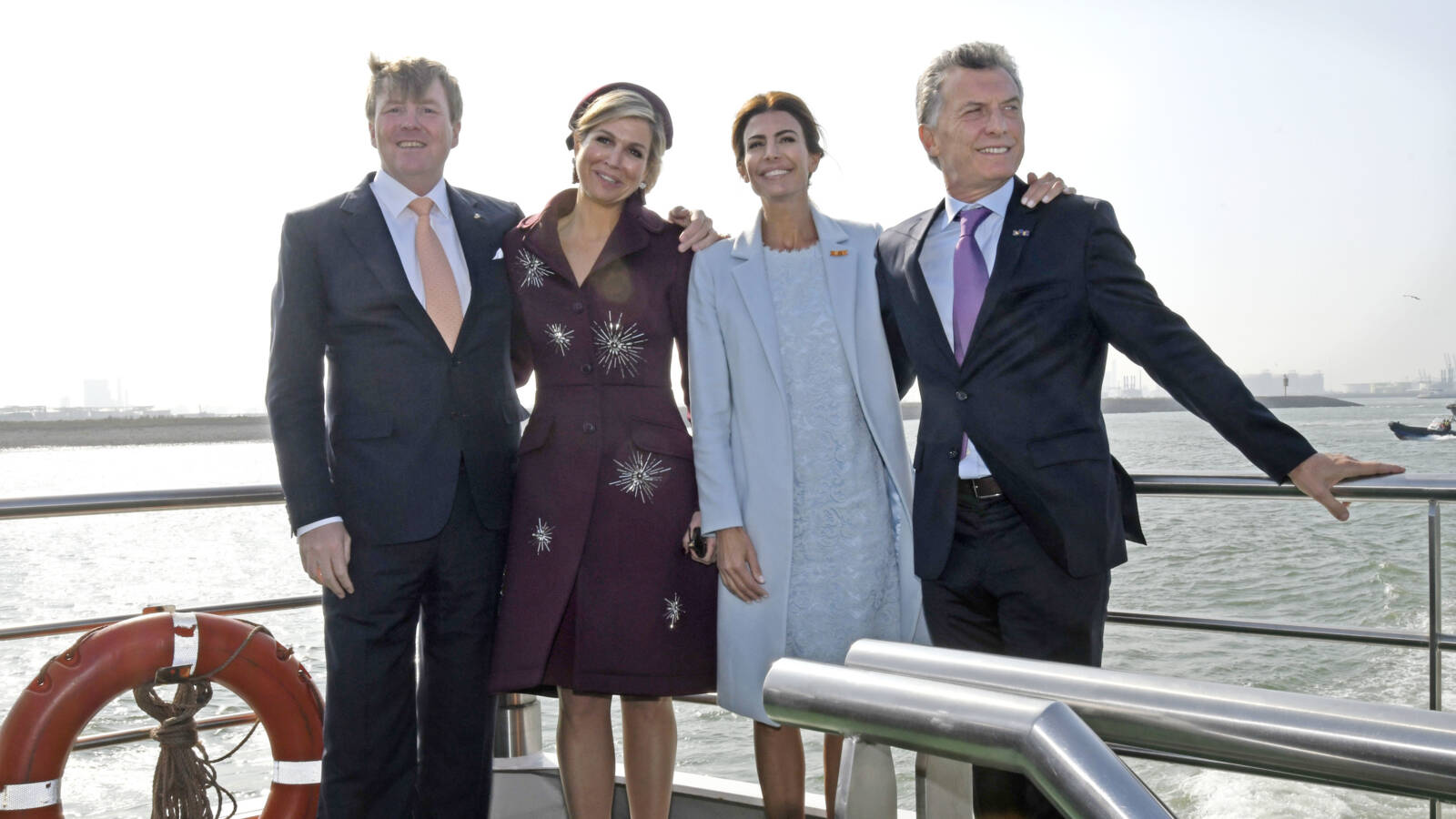The Dutch royal couple and the Argentine presidential Macri couple, HH photo