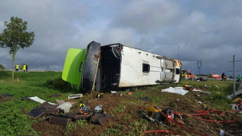 33 gewonden bij ongeluk met Flixbus in Noord-Frankrijk.