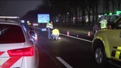 Voetganger overleden na aanrijding op snelweg A58 bij Roosendaal.