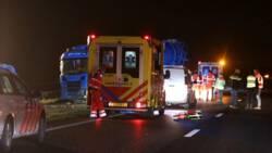 Verkeerschaos bij Groningen na ongeluk met cementwagen.