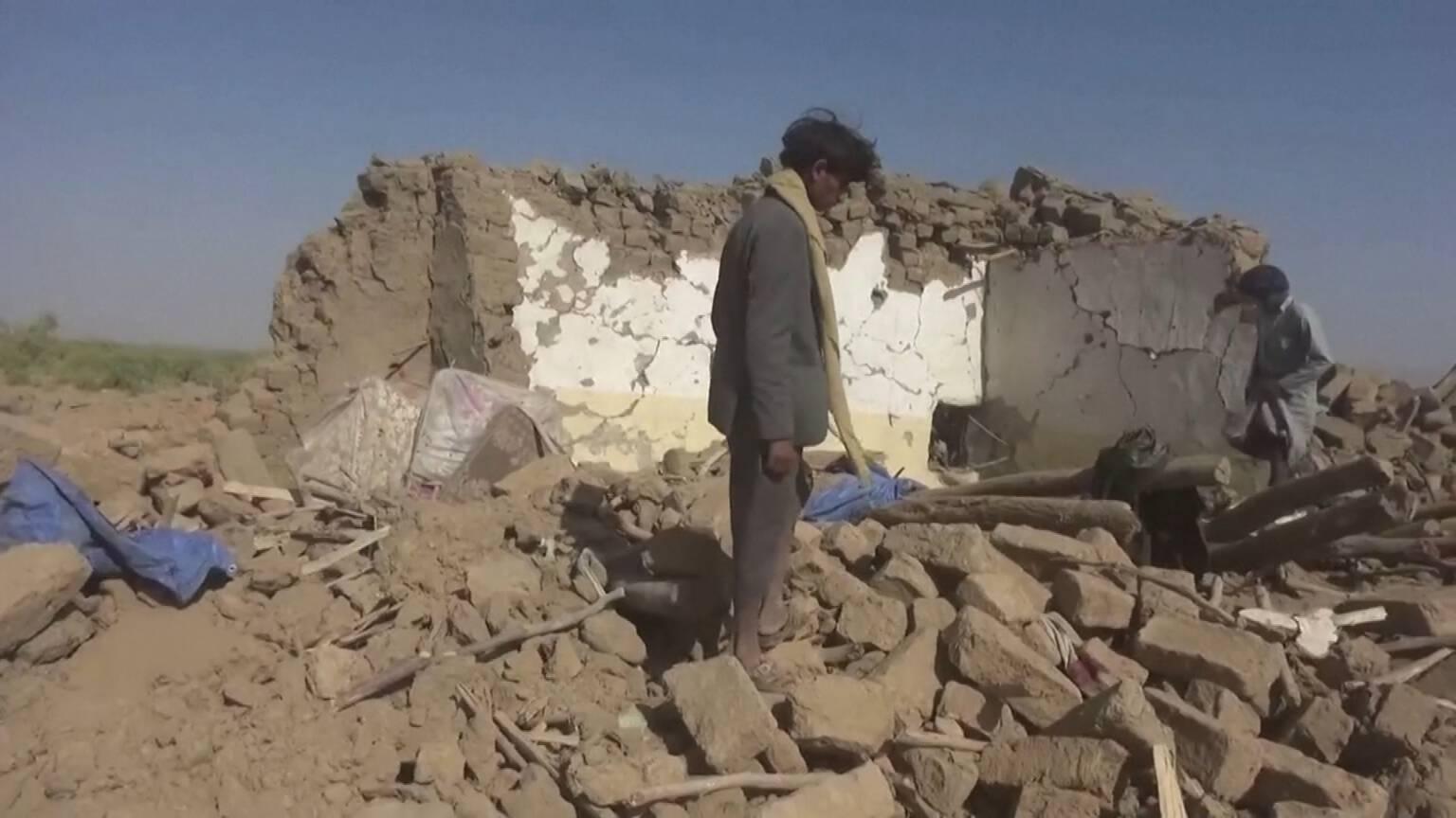 Homes of Yemenis killed by Saudi warplanes, Reuters photo