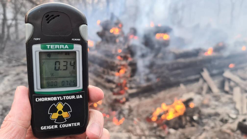 Bekijk details van Bosbranden Tsjernobyl leiden tot verhoogd stralingsniveau