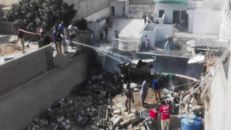 Vliegtuig neergestort in Pakistan