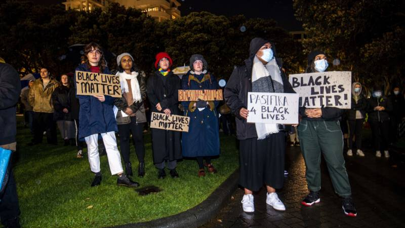 Protest against the police murder of George Floyd in Minneapolis USA, in Auckland, New Zealand