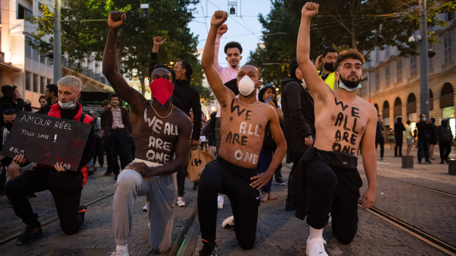 Anti-racist demonstrators in Marseille, France this week