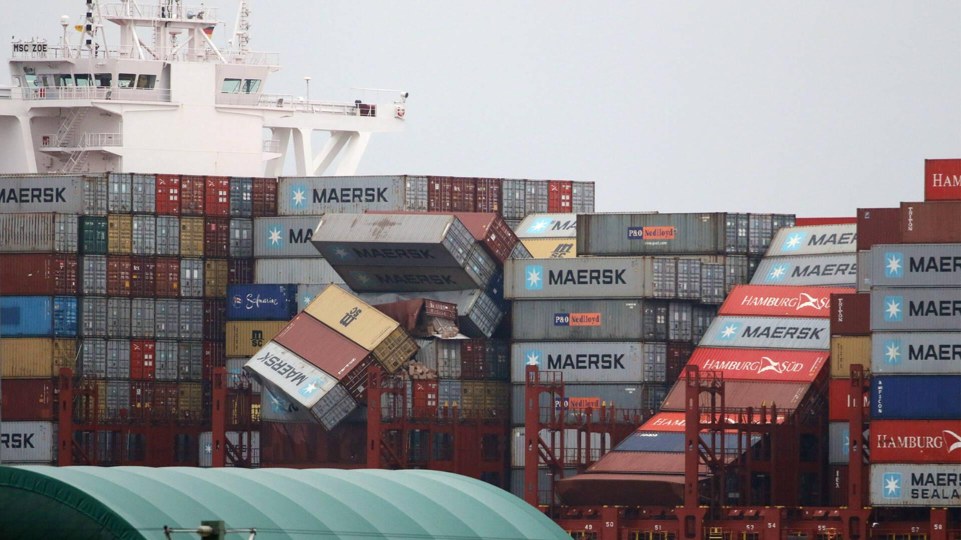 OVV: containerschepen in noordwesterstorm niet meer langs Wadden