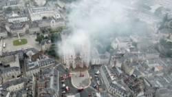 Brand kathedraal Nantes mogelijk toch ongeluk.