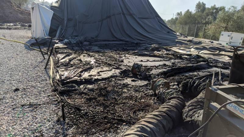 Gloednieuw Nederlands noodhospitaal uitgebrand in Moria