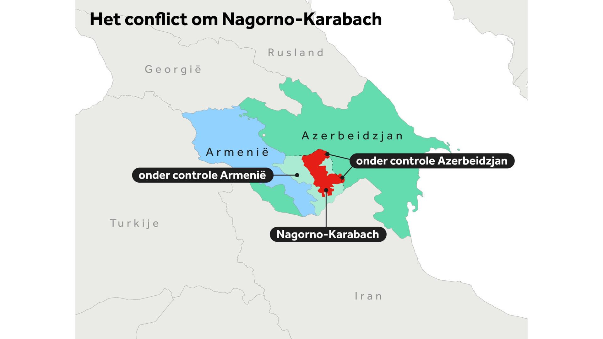 NOS kaartje Nagorno Karabach