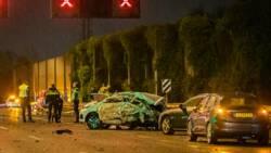 Dode bij zware aanrijding op A2 bij Nieuwegein, meerdere autos betrokken.