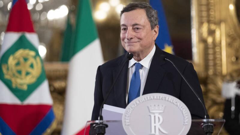 'Super Mario' Draghi verzekert zich van steun voor Italiaanse eenheidsregering - NOS