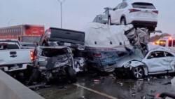 Meer dan 100 voertuigen betrokken bij kettingbotsing in Texas: zeker 5 doden.