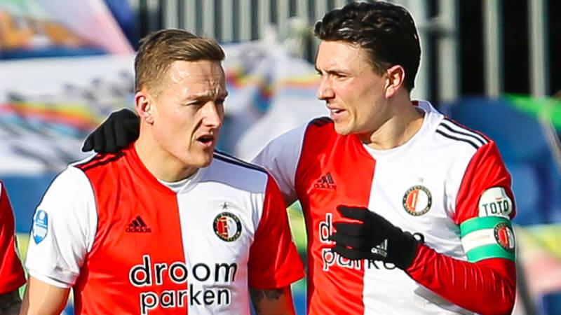Feyenoorders putten hoop uit tweede helft: 'Tweede plek binnen handbereik' - NOS