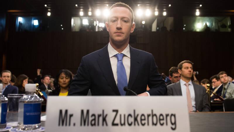 Topmannen Facebook, Twitter en Google weer gehoord door Amerikaanse Congres - NOS