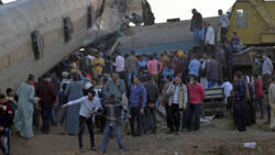 Dodental treinongeluk Egypte naar beneden bijgesteld.