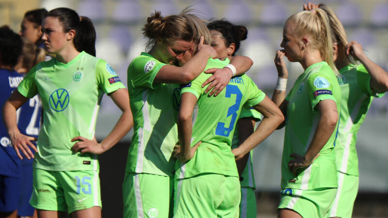 Janssen en Van de Sanden sneuvelen met Wolfsburg in kwartfinales Champions League