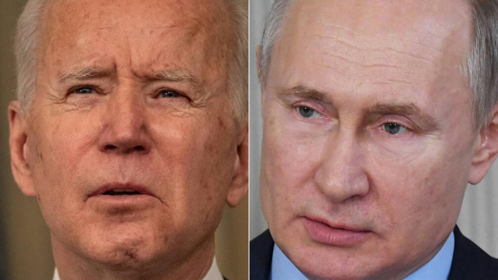 Bekijk details van Biden belt met Poetin over spanningen langs grens met Oekraïne en stelt top voor