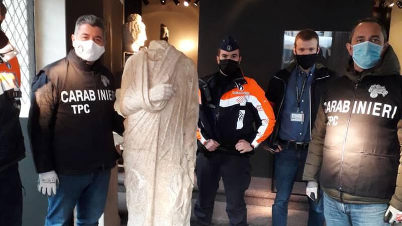 Italiaanse agenten stuiten bij toeval op gestolen Romeins beeld in Brussel
