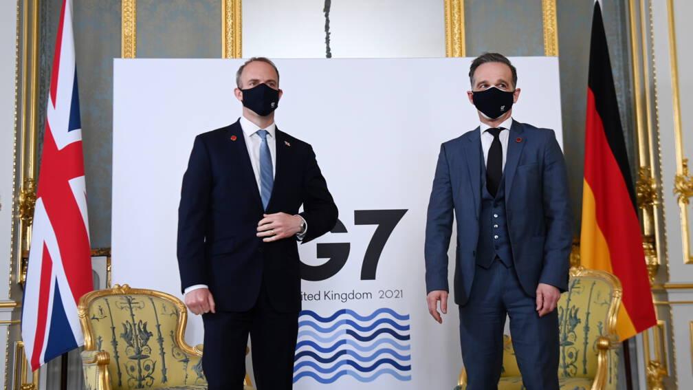 Bekijk details van G7-ministers halen uit naar 'kwaadaardig' Rusland en 'pestkop' China