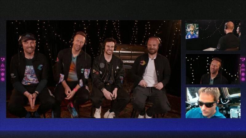 Coldplay presenteert nieuwe single in de ruimte
