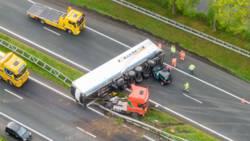 A7 bij Drachten in beide richtingen dicht na ongeval met vrachtwagen.