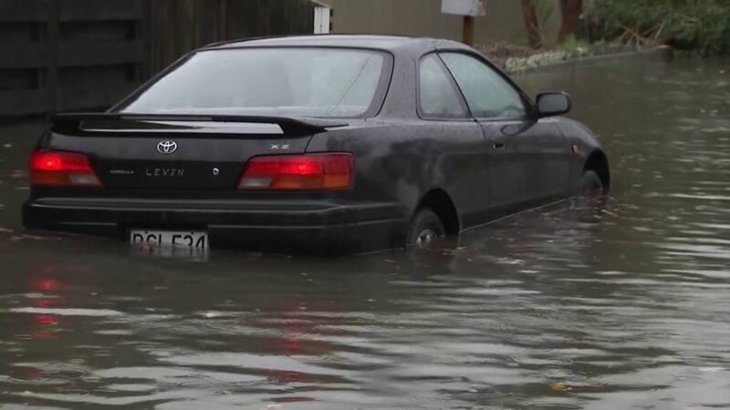 Nieuw-Zeelanders vluchten voor overstromingen