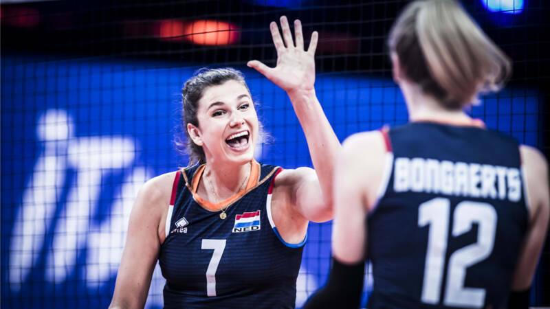 Oranje-volleybalsters verrassen wereldkampioen Servië in Nations League