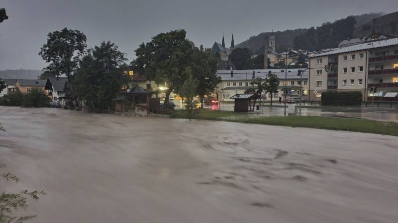 Nu ook in Oostenrijk overstromingen