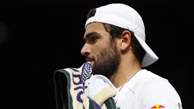 Wimbledon-finalist Berrettini mist Spelen in Tokio door blessure