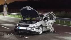 Man overleden na botsing op A67, bestuurder van betrokken auto spoorloos.