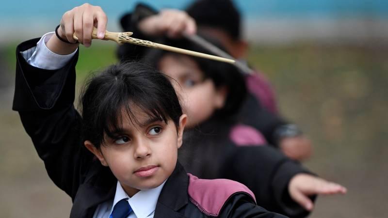 Kinderen krijgen Harry Potter-les